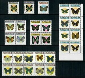 (RP05A) PHILIPPINES - 2005 COMPLETE REGULAR STAMP SETS - BUTTERFLIES. MUH