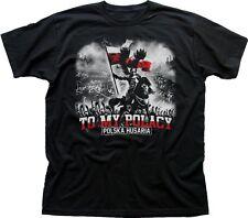 Polish Polska Husaria Top My Polacy koszulka black printed tshirt t-shirt 9377