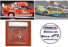 Decals Peugeot 307cc WRC Loeb ROC 2004 version toit blanc base Solido 1//43e