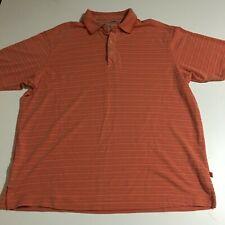 Tommy Bahama Mens Medium Polo Shirt Orange Striped