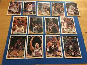 1993/94 Topps Miami Heat Team Set 13 Cards