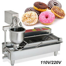 Safty& Commercial Automatic Donut Maker Making Machine Wide Oil Tank 3 Size Mold