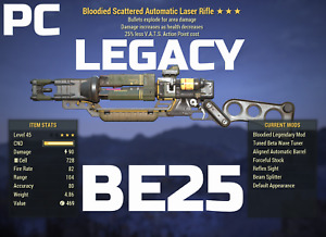 Fallout 76 PC LEGACY Laser Rifle BE25