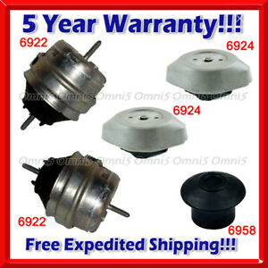 N054 Fits 1998-1999 Audi A6/ A6 Quattro 2.8L Engine Motor & Trans Mount Set 5pc