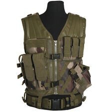 Military Army Airsoft USMC Tactical Combat Assault Vest Pouches CE Woodland Camo