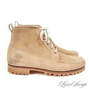 Eastland Made in Maine USA Sand Suede 083112 Vibram Sole Boots Shoes 10.5 D NR