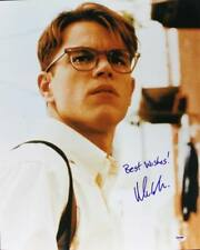 Matt Damon Talented Mr. Ripley Signed Authentic 16X20 Photo Psa/Dna #U70502