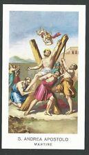 Holy card de San Andres Apostol estampa santino image pieuse
