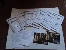 Ibanez Electric Guitar / Bass Maint. Manuals  (7 ), cards,  cords case candy !