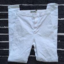 Topshop Moto Joni jeans white, skinny - size W30 L32