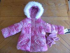 New Pink Puffer Winter Coat Size 2T Girls Hooded NWT Hood Mittens Rothschild