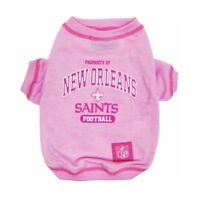 New Orleans Saints Officially Licensed NFL Dog Pet Tee Shirt, Pink Sizes XS-L