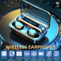 TWS Wireless Headphones Headsets Bluetooth 5.0 Earbuds Noise Cancelling Earphone