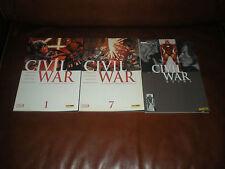 CIVIL WAR - LOT DE 3 TOMES N°1 ET 7 + EXTRA N°3 - MARVEL PANINI COMICS 2007