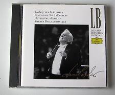 "BERNSTEIN . BEETHOVEN . Symphonie 3 "" Eroica "" . Ouverture "" Fifelio "" . CD"