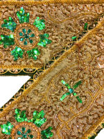 Vintage Indian Sari Border Decorative Trim Sewing Sari Lace Sold By 1 Yd