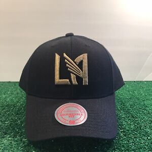 $30 Mitchell & Ness LAFC Soccer Logo Snapback Adjustable Hat Black NWT