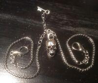 Edwardian Style Memento Mori Vanitas Albert Pocket Watch Chain Anatomical Skull
