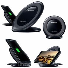 BLACK Fast Charge Stand Samsung Galaxy S7 Note5 Wireless Charging Pad Qi Charger