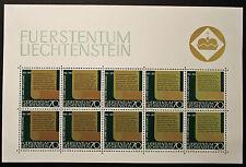 Francobollo LIECHTENSTEIN Stamp - Yvert e Tellier n°489 x10 (En Feuillet) n (Y5)