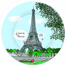 Assiette a dessert Tour Eiffel Petit jour Paris