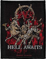 Official Licensed Merch Woven Sew-on PATCH Metal Rock SLAYER Hell Awaits
