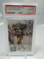 2015 Panini Prestige #93 Aaron Rodgers Green Bay Packers PSA 10 GEM MINT