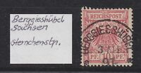 """DR - Stempel K1 """"BERGGIESSHÜBEL"""" (Sachsen) auf 10 Pfg. (Adler) - bitte ansehen !"""