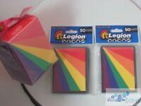 Rainbow LEGION MAT DECK PROTECTOR CARD SLEEVES AND DECK BOX mtg Pokemon