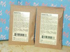 2 x Le Labo SANTAL 33 Eau de Parfum Sample Perfume 0.75ml ea New Sealed