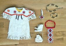 RETIRED AMERICAN GIRL KAYA POW WOW DANCE DRESS OF TODAY RARE OUTFIT MOCCASINS