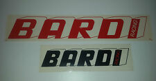 Adesivo Sticker BARDI RACING 2 pezzi Rosso e Nero su fondo trasparente Perfetti