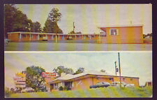 Salisbury North Carolina Nc Chanticleer Motel Restaurant 2 Views 1950's Cars Pc