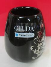 Metaform GILDA vidrio puerta cepillos de dientes lavabo de vidrio negro y plata