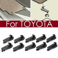 SET OF 10 Floormat Hooks Clips Floor Mat Clip For Toyota RETENTION HOLD DOWN CAR