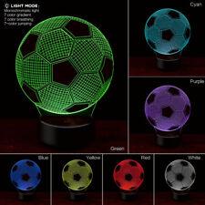 Football 3d Night Light Table Desk Lamp 7 Colors 3d Optical Illusion Lights