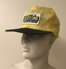 Frank Whitcomb Construction - Vintage Mesh Patch Trucker Hat - Black/Yellow