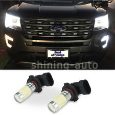 9145 H10 LED Fog Light 144x per Bulb 6000k White for Ford Mustang 2004-2012 car