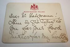 1850s Buckingham Palace Card- Signed by Victoria Princess Royal Queen of Prussia