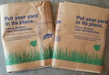 30 Gallon Heavy Duty Brown Paper Lawn & Refuse Bags For Home & Garden