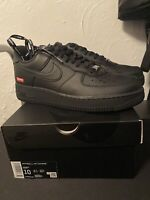 Brand New! Supreme Nike Air Force 1 Low Black Size 10 In Hand Ready
