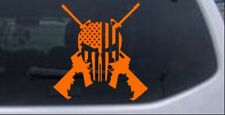 Punisher American Flag Cross Ar15 Car Window Decal Sticker Orange 8x78