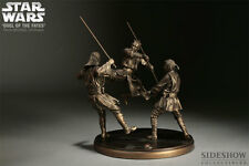 SIDESHOW STAR WARS DUEL OF FATES FAUX BRONZE DIORAMA EXCLUSIVE STATUE FIGURE SET