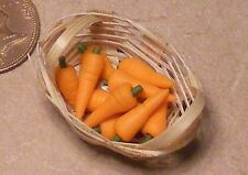 1:12 Scale 10 Carrots In A Basket Tumdee Dolls House Vegetable Kitchen Accessory