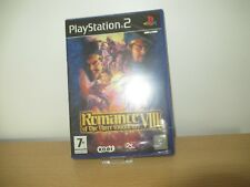 Romance of The Three Kingdoms VIII Sony PlayStation 2 Ps2 7 Strategy Game
