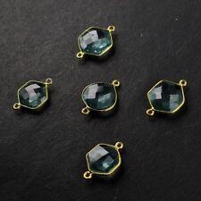 Blue Topaz Hydro Gemstone Fashion New Design Boho Jewelry Making Connector 5pc