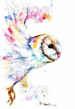 Barn Owl,Sale,Original ,Watercolour ,Print ,Card, Gift, Wildlife,Animal,Art,