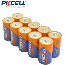 D Size Batteries 1.5V LR20 AM1 Alkaline Strong than R20P Long Life PKCELL 10PCS