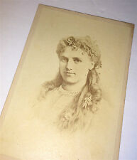 Antique Victorian Opera Singer / Performer Beautiful Christine Nilsson Old CDV!