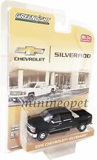 GREENLIGHT 51109 B 2015 CHEVROLET SILVERADO with TOW HITCH & TOOL BOX 1/64 BLACK
